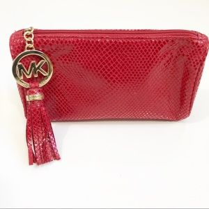 Michael Kors | Small Tasseled Red Cosmetic Bag